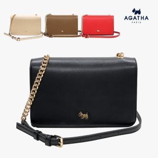 【AGATHA】鏈帶翻蓋側背方包(典雅款實用好收納)