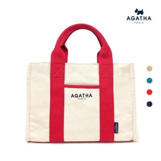 【AGATHA】方形手提/肩背環保帆布包(環保耐用帆布包)