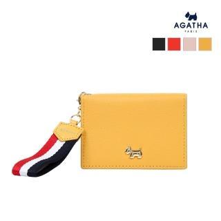 【AGATHA】金色Scottie暗釦牛皮卡夾(搭配法國國旗吊飾)