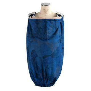 【NAOMI ITO】水波紋保暖披巾(藍)