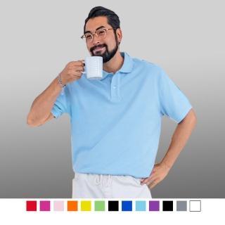 【男人幫】男人幫 P1568 透氣速乾 大尺碼吸溼排汗素面短袖POLO衫 涼感短袖polo衫涼爽舒適涼感衣(P1568)