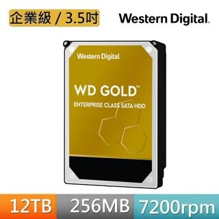 【WD 威騰】金標 12TB 企業級 3.5吋 SATA硬碟(WD121KRYZ)