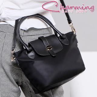【Charming Bags】Belle 經典圓標翻蓋水餃包 小(LG-887-BE-W)