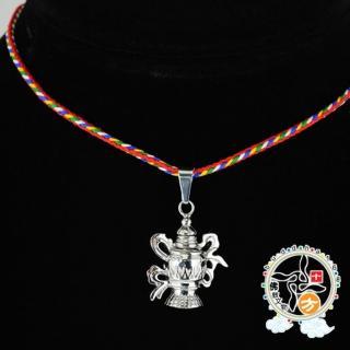 【十方佛教文物】寶瓶{可裝臟}鋼項鍊(吉祥如意)
