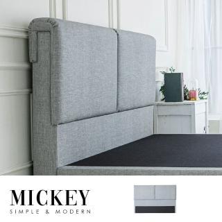 【obis】Mickey米奇雙人6尺床頭片/貓抓皮(雙人加大/雙人特大)