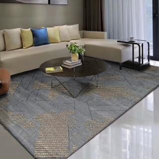【山德力】簡約線條時尚地毯- 巴頓 200X290CM(大尺寸 氣派 經典 客廳 起居室 書房 生活美學)