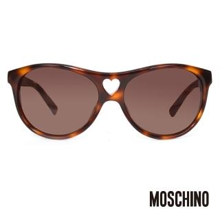 【MOSCHINO】義大利時尚心型太陽眼鏡(琥珀-MO500-02)