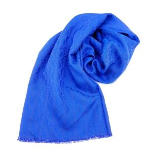 【TORY BURCH】MOSAIC LOGO 流蘇圍巾(寶藍色)