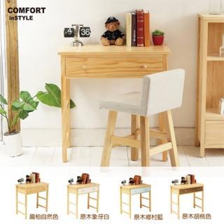 【CiS 自然行】多機能書桌 兩用桌80cm 兩色可選(工作桌 化妝桌 邊桌 80CM桌 實木家具  原木傢俱)