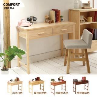 【CiS 自然行】多機能書桌 兩用桌110cm 兩色可選(邊桌 工作桌 化妝桌 邊桌 110CM桌 實木家具  原木傢俱)
