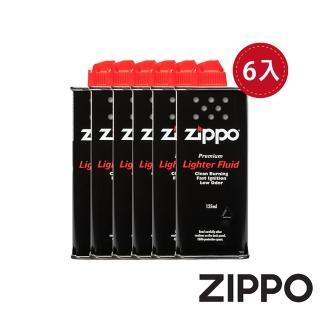 【Zippo】原廠打火機專用油 125ml 六入組(Zippo 原廠打火機專用油)