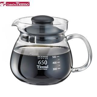 【Tiamo】玻璃壺玻璃把手650cc-黑色(HG2202BK)