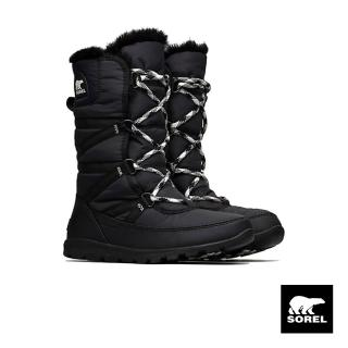 【SOREL】女款布面運動長靴(黑色)