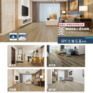 【MIDUOLI米多里】超耐磨木地板SPC大地石晶系列8.1坪/10箱