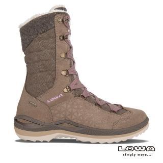 【LOWA】女 中高筒保暖雪靴 褐/粉紅 BARINA II GTXR Ws(保暖雪靴/LW420408-4624)