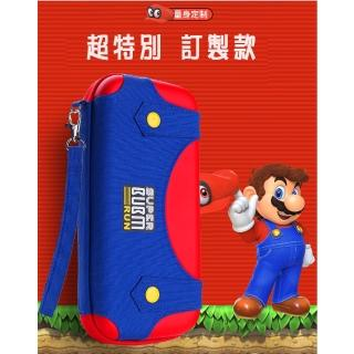 【Nintendo 任天堂】Switch 副廠瑪莉歐 訂製款多功能收納包(收納+直立架用途)