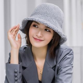 【Acorn 橡果】韓系純色保暖漁夫帽圓頂帽遮陽帽1712(灰色)