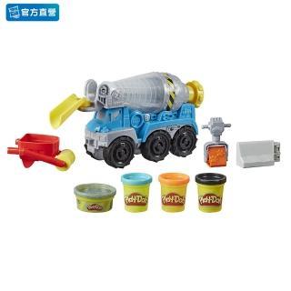 【PLAYDOH 培樂多】車輪系列(車輪系列 無毒 水泥車遊戲組 E6891)