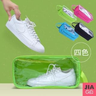 【JIAGO】加大手提防水透明視窗旅行鞋袋