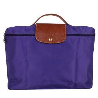 【LONGCHAMP】Le pliage系列拉鍊摺疊公事包(紫水晶)