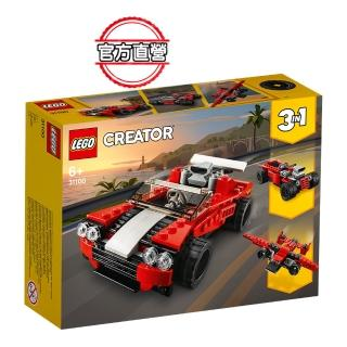 【LEGO 樂高】創意百變系列 跑車 31100 飛機 模型(31100)