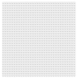 【LEGO 樂高】經典套裝 白色底板 11010 全白 模型(11010)