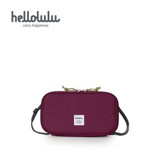 【hellolulu】SHANNON 收納側背包-酒紅(50180-39)