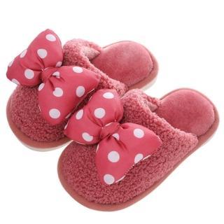 【Jingle】冬季抗寒一家三口保暖毛毛居家親子拖鞋(6色可選大人兒童全尺碼)