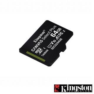【Kingston 金士頓】Canvas Select Plus microSDXC 64GB 記憶卡(★SDCS2/64GB)