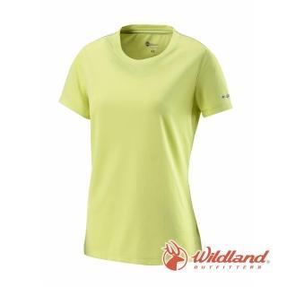 【Wildland 荒野】女 疏水纖維圓領排汗衣-檸檬黃 W1623-34(短袖上衣/戶外休閒/排汗衫)