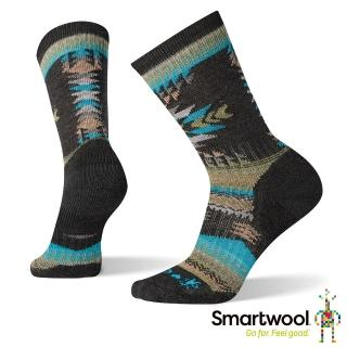【SmartWool】男CHUP聯名系列-Prairie Lands中筒襪(炭黑色)