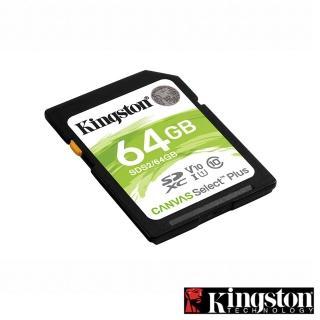 【Kingston 金士頓】Canvas Select Plus SDXC 64G 記憶卡(SDS2/64GB)