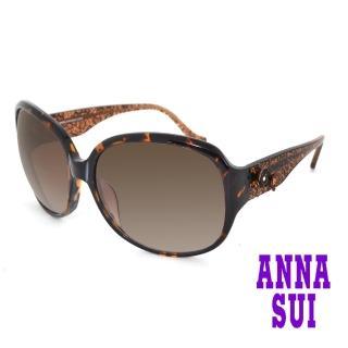 【ANNA SUI 安娜蘇】ANNA SUI 安娜蘇 網紋花色琥珀光學眼鏡 琥珀(AS813113)