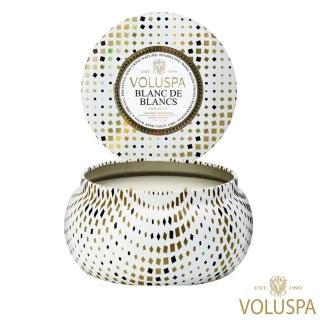 【VOLUSPA】美好假期系列 白中白香檳 錫盒 312g 香氛蠟燭(Blanc de Blancs)