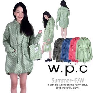 【w.p.c】抽繩收腰款。時尚雨衣/風衣 R9022(4色任選)