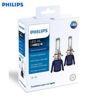 【Philips 飛利浦】PHILIPS 光劍 LED頭燈 Essential Ultinon HB3/HB4 頭燈兩入裝-公司貨