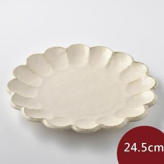 【Tojiki Tonya】美濃下石 KIKKA 花盤 餐盤 24.5cm