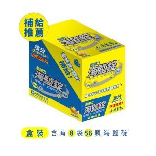 【鹽續力】海鹽錠白柚口味 盒裝(本包裝含有8袋 1.8公克/粒 七粒/袋)