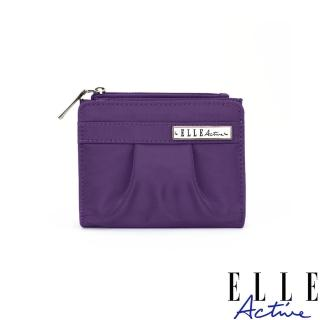 【ELLE active】知性優雅系列-短夾-紫色