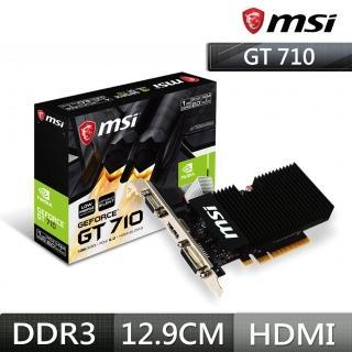 【MSI 微星】GT 710 1GD3H LP PCI-E顯示卡
