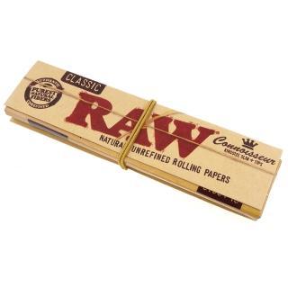 【RAW】CLASSIC CONNOISSEUR KINGSIZE-捲煙紙+自捲式紙濾嘴(3包入)