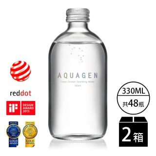 【AQUAGEN】海洋深層氣泡水-經典原味2箱(金馬獎唯一指定氣泡水)
