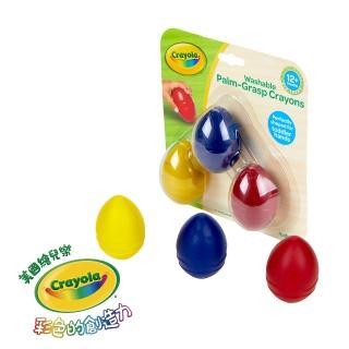 【crayola 繪兒樂】幼兒可水洗掌握蛋型蠟筆3色(紅黃藍)