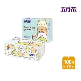 【MAY FLOWER 五月花】角落小夥伴抽取式衛生紙_粉藍(100抽x12包x6袋_角落生物)