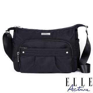 【ELLE active】知性優雅系列-側背包/斜背包-中-黑色