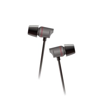 【T.C.STAR】金屬/鈦膜單體 入耳式耳機麥克風-黑色(TCE6050BK)