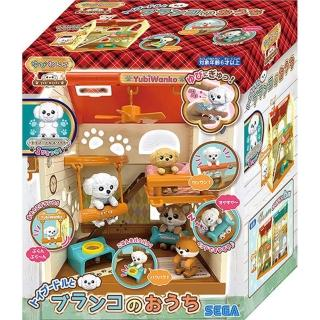 【SEGA TOYS】日本 拇指狗狗 鞦韆小屋_(公司貨SG80183 公司貨)