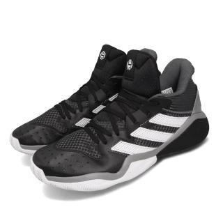 【adidas 愛迪達】籃球鞋 Harden Stepback 男款 愛迪達 哈登 大鬍子 NBA 耐磨 緩震 黑 白(EF9893)