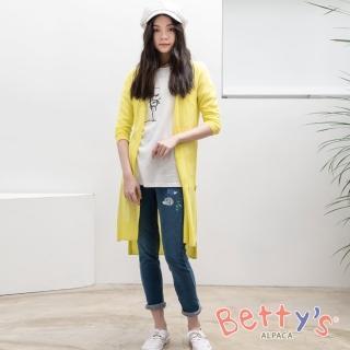 【betty's 貝蒂思】仿牛仔舒適窄管褲(深藍)