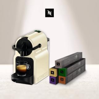 【Nespresso】膠囊咖啡機 Inissia_3色可選(義式咖啡館50顆組)